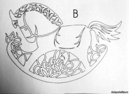 Схема большой лошадки качалки