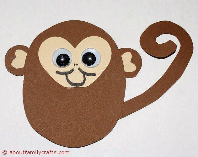 Поделки обезьяна к новому году из бумаги