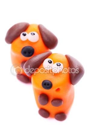 Собачки из полимерной глины. Простая лепка.