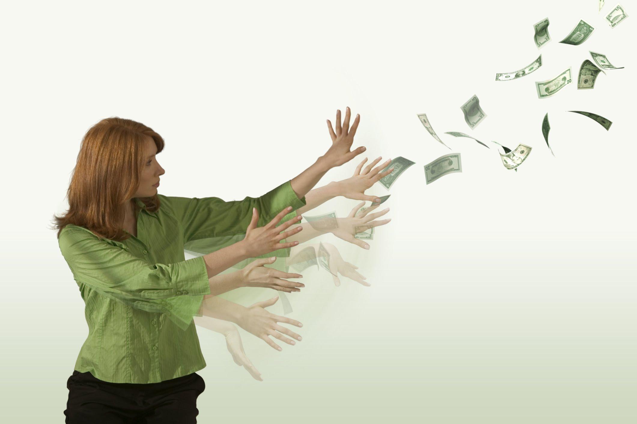 Трата денег картинка